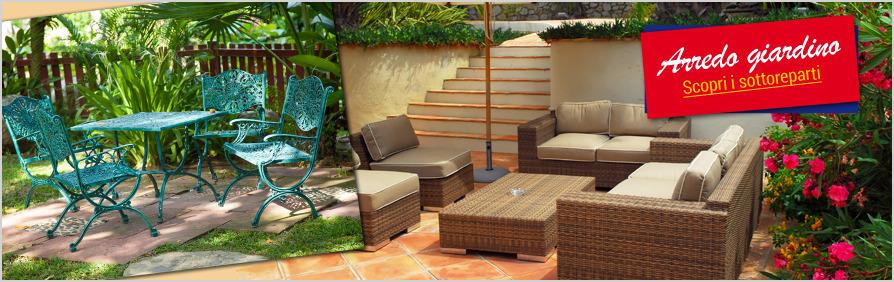 Arredo giardino eurobrico for Mobili giardino terrazzo