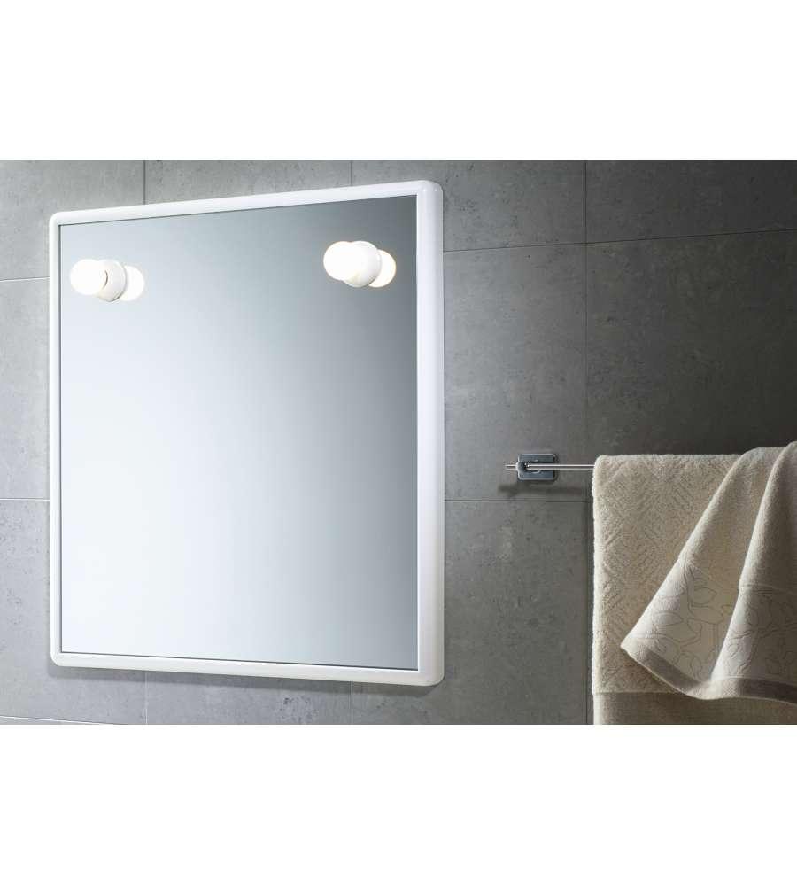Specchio 55x60 con luci bianco - Specchio con luci ...
