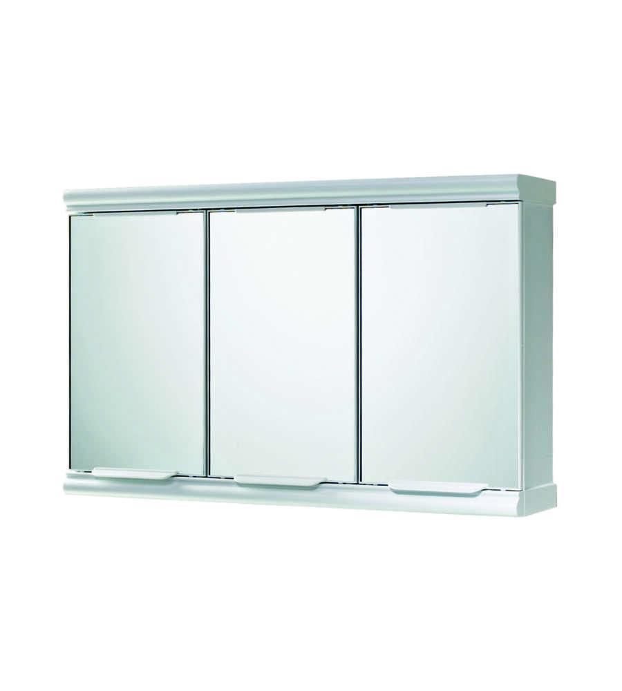 Armadietto 3 Ante Specchio Bianco