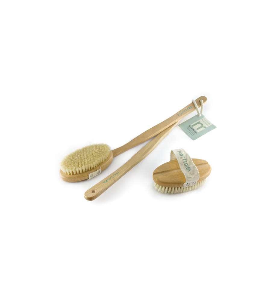 Spazzola massaggio in legno di faggio e setole martini - Spugne da bagno ...