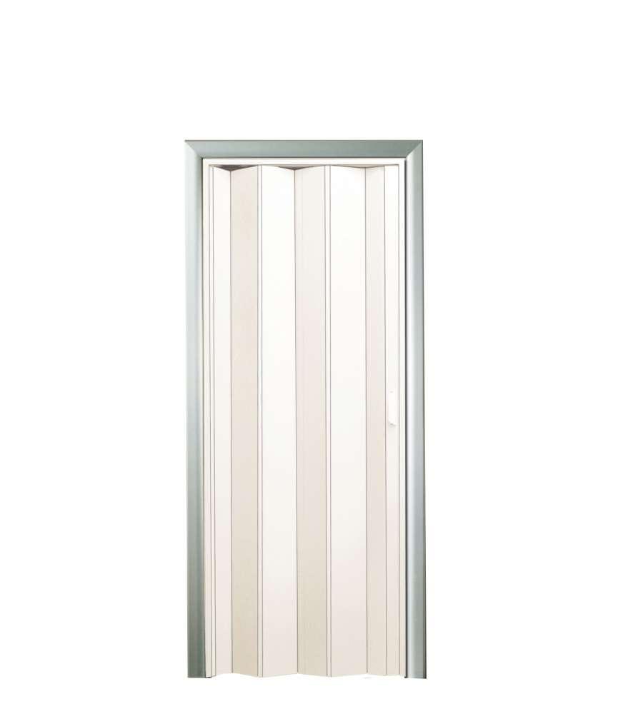 Porta a soffietto bianca 82x210 cm - Porta a soffietto in vetro ...