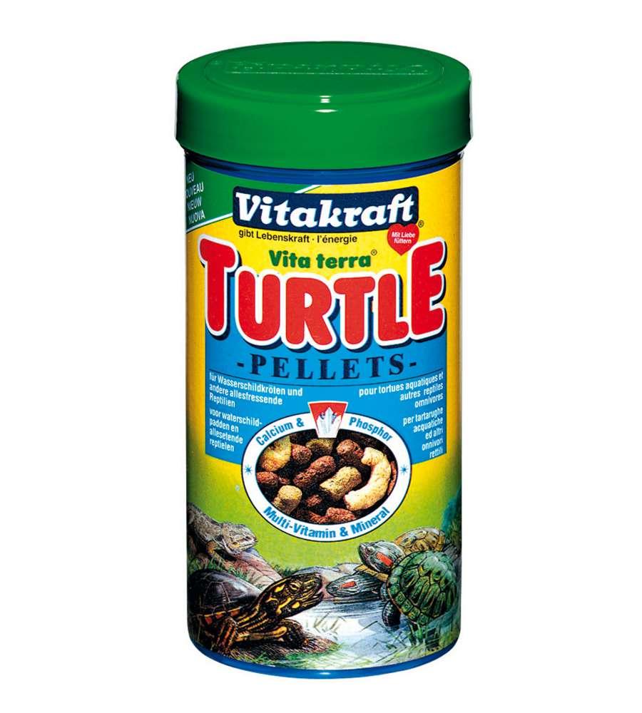 turtle pellets da 1 lt per tartarughe acquatiche e lucertole