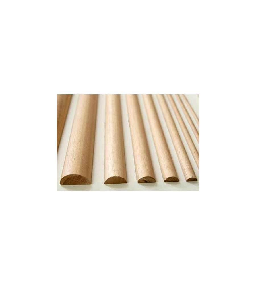 Listello mezzo tondo grezzo koto 20 x 9 x 2400 mm - Tavole di legno per edilizia ...