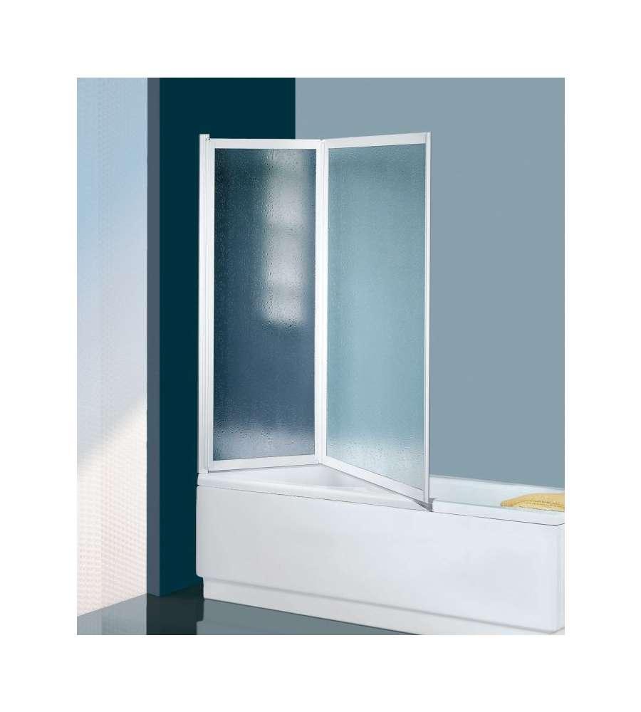 Box Vasca Con 2 Ante Pieghevoli In Crillex 60 X 125