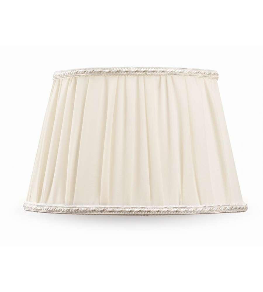 paralume impero plisse diametro 30 cm avorio in cotone. Black Bedroom Furniture Sets. Home Design Ideas