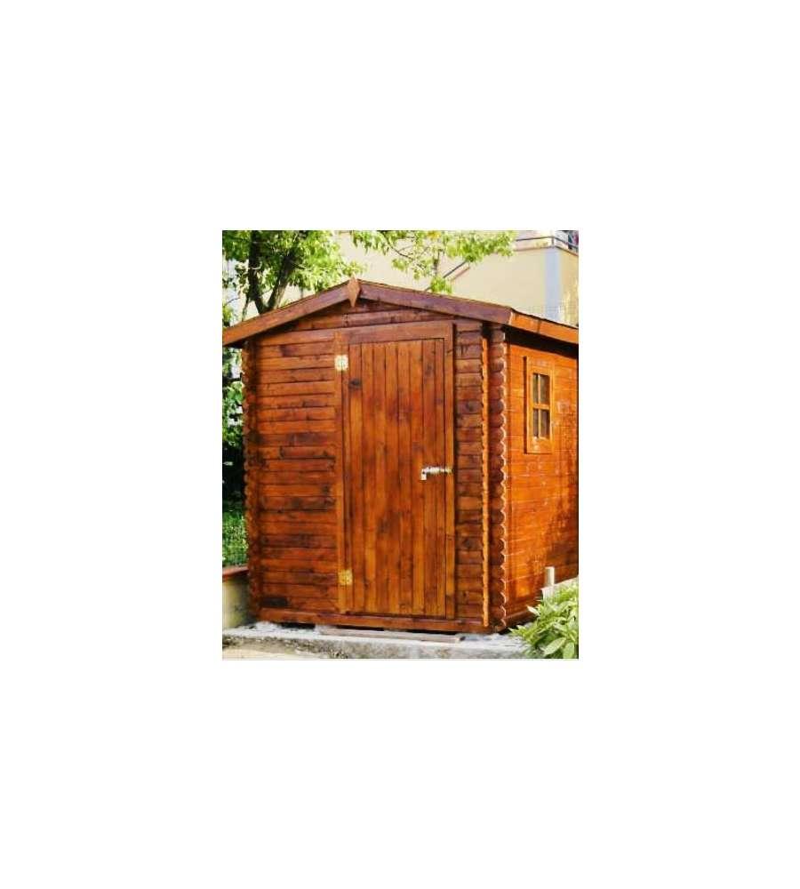 Casetta in legno ad incastro lilly 216 x 199 x 226 cm for Obi casette in legno