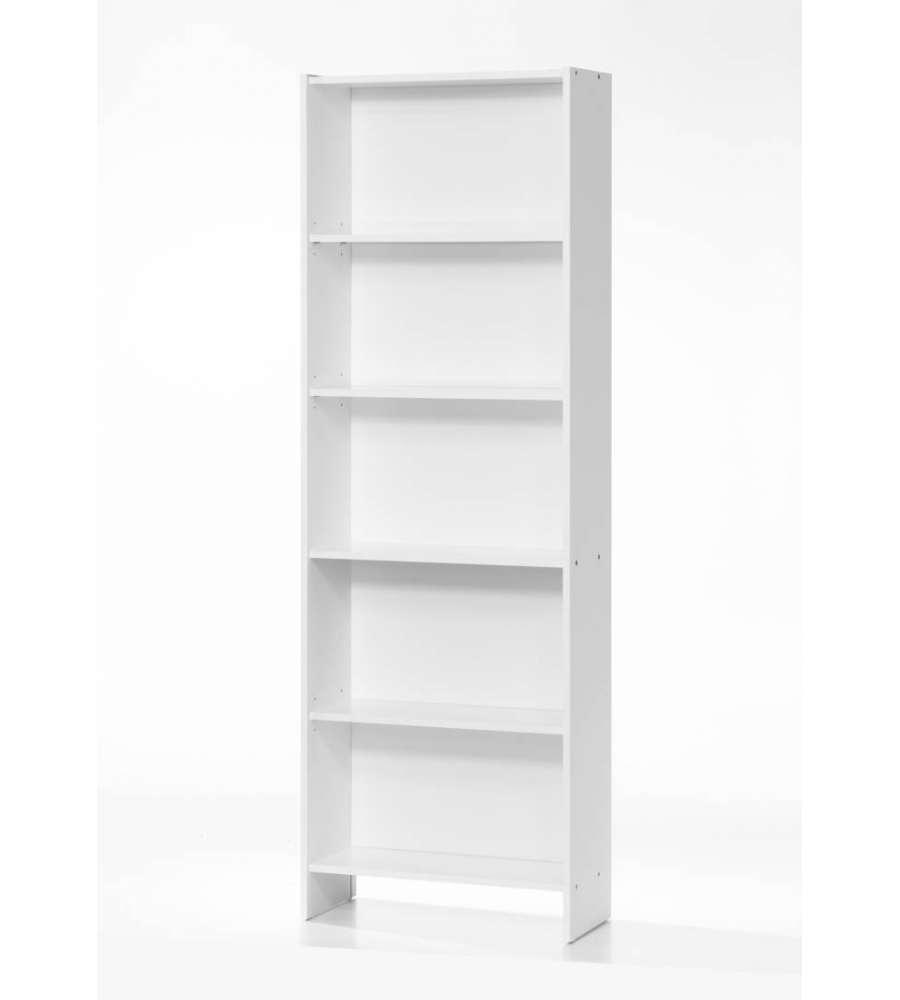 Libreria Profondità 15 Cm libreria bianca con 4 ripiani - 60x24x175cm.
