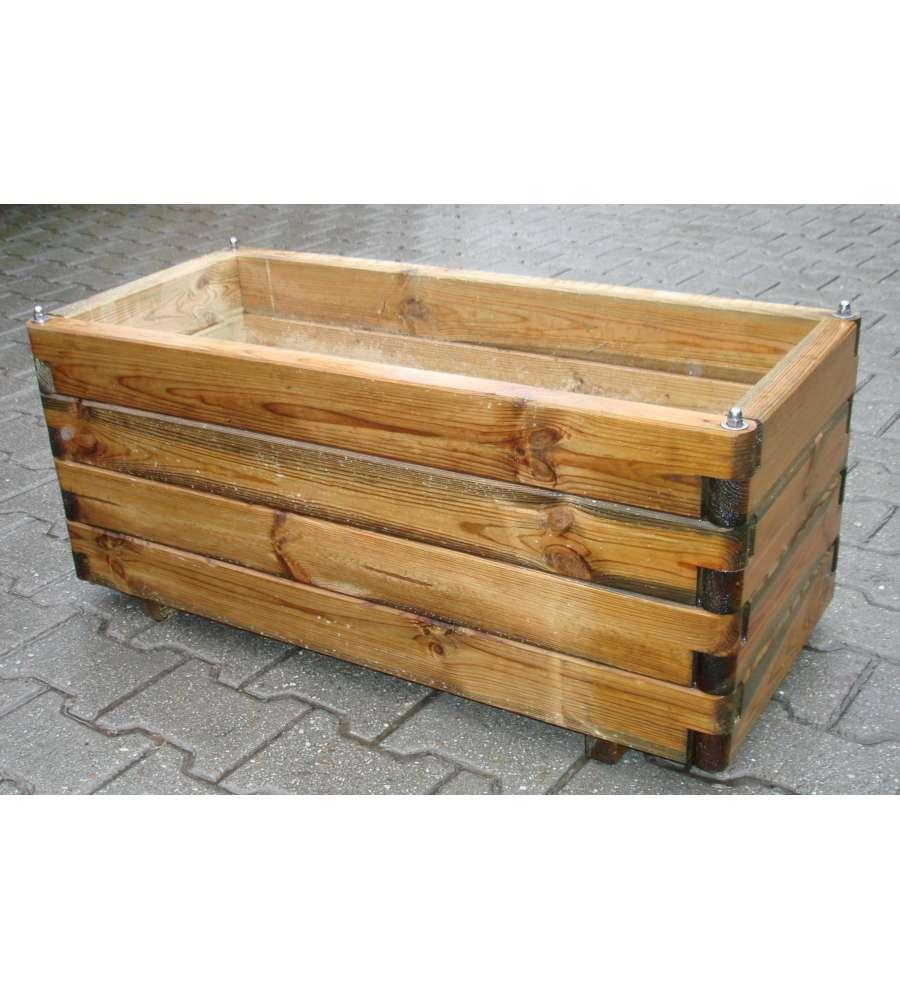 Fioriera con perno 100x40x40 cm - Decorazioni in legno per mobili ...