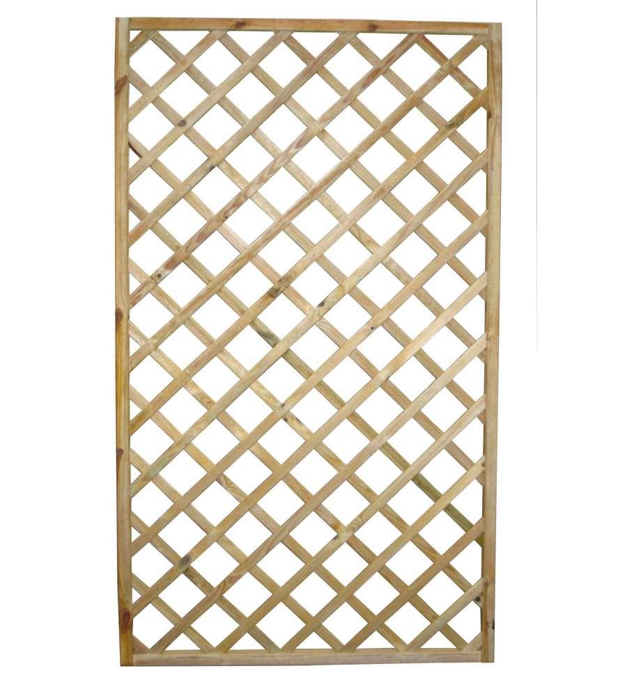 Griglia diagonale da giardino in legno di pino 60x4 for Grate in legno per balconi