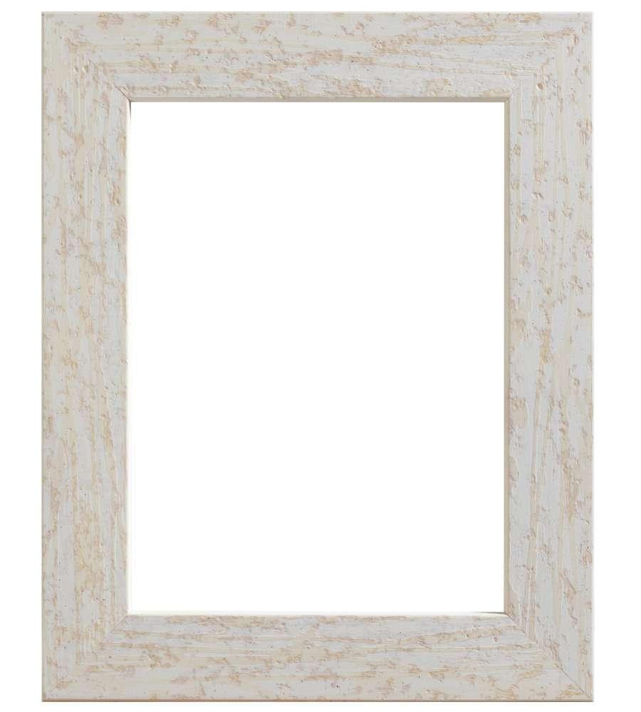 Cornice in legno colore bianco 50 x 70 cm for Cornice foto legno