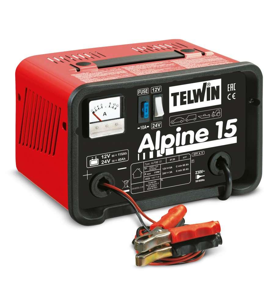 Caricabatteria alpine 15 per prese da 230v telwin for Caricabatterie auto moto lidl