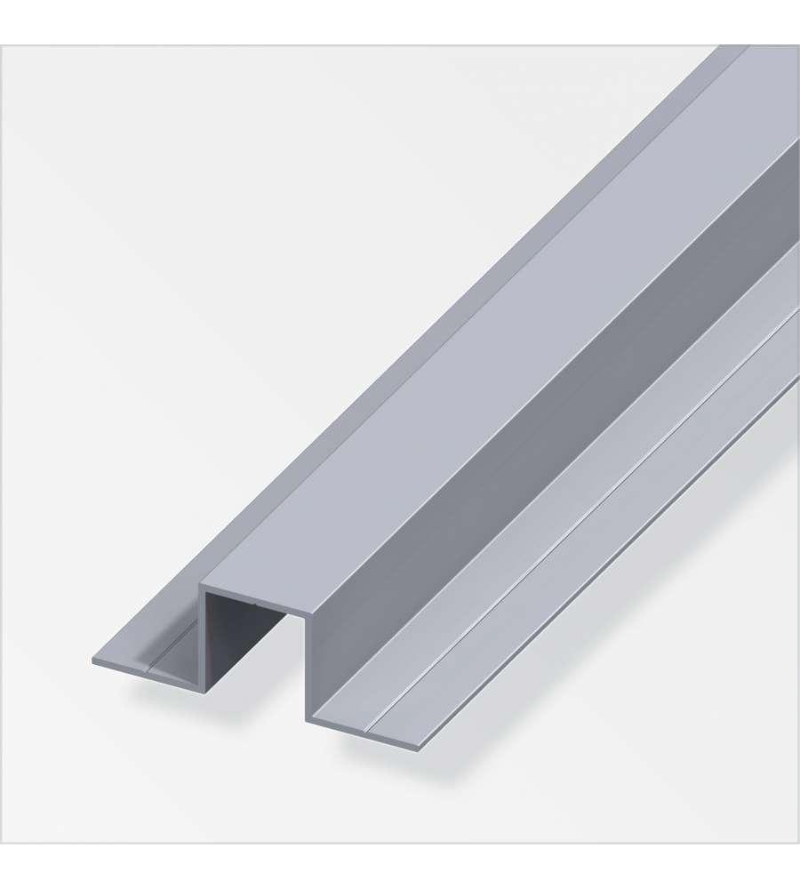 Profilo ad u 2 lati in alluminio 1 metro for Obi addobbi natalizi