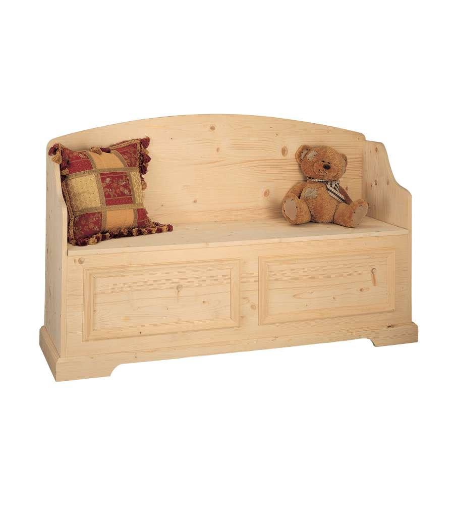 Cassapanca in legno massello versailles for Cassapanca di legno