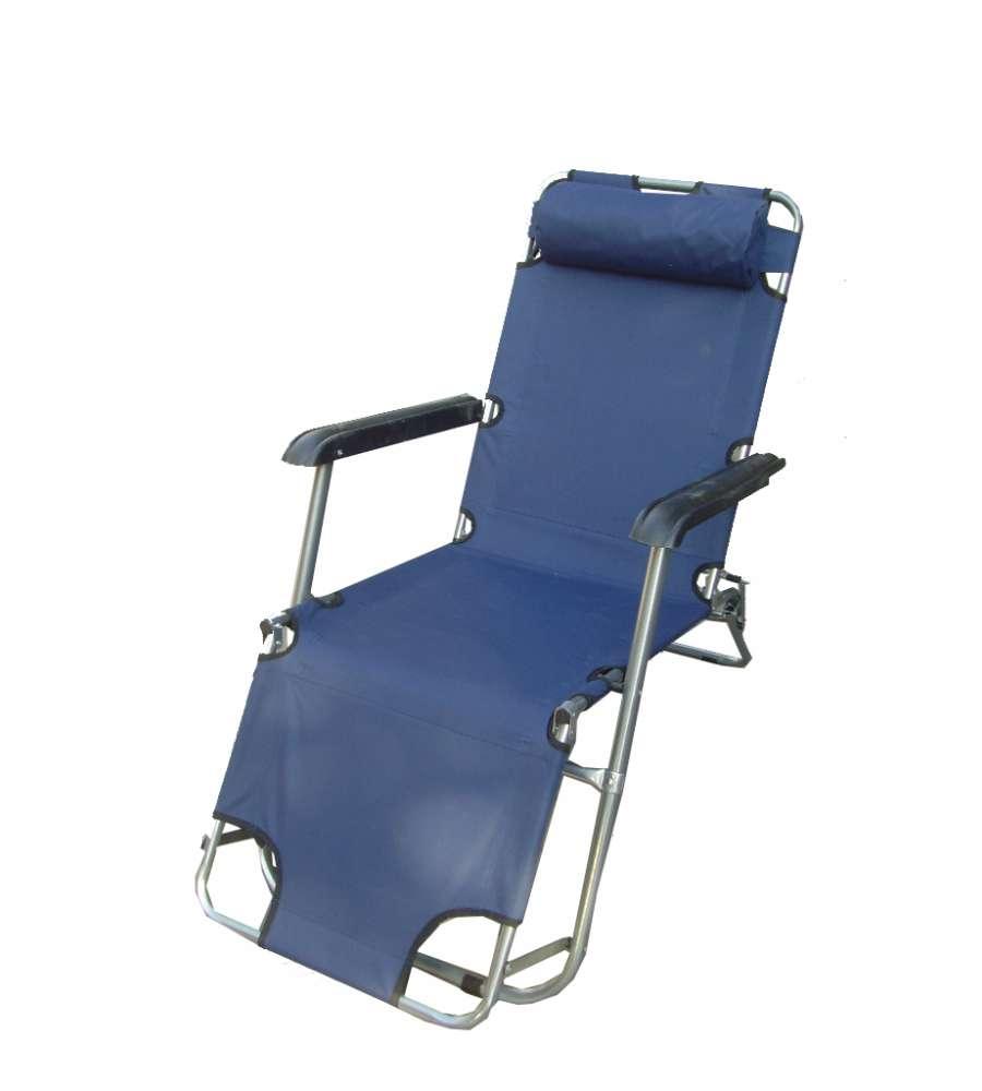 Sdraio lettino granny con cuscino allungabile blu navy for Lettino allungabile