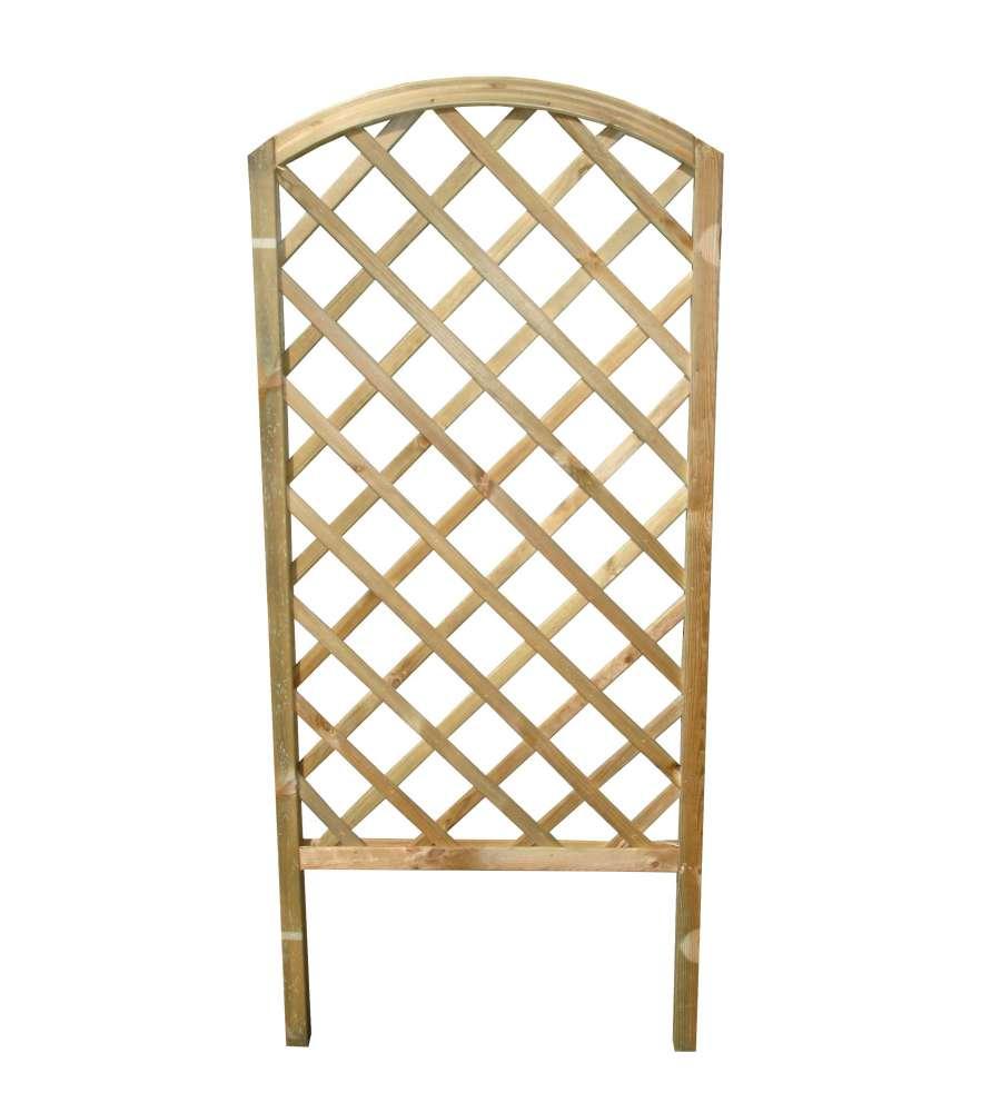 Rivestire Un Arco In Legno griglia diagonale arco in legno di pino 72 x 4,5 x 160 cm.