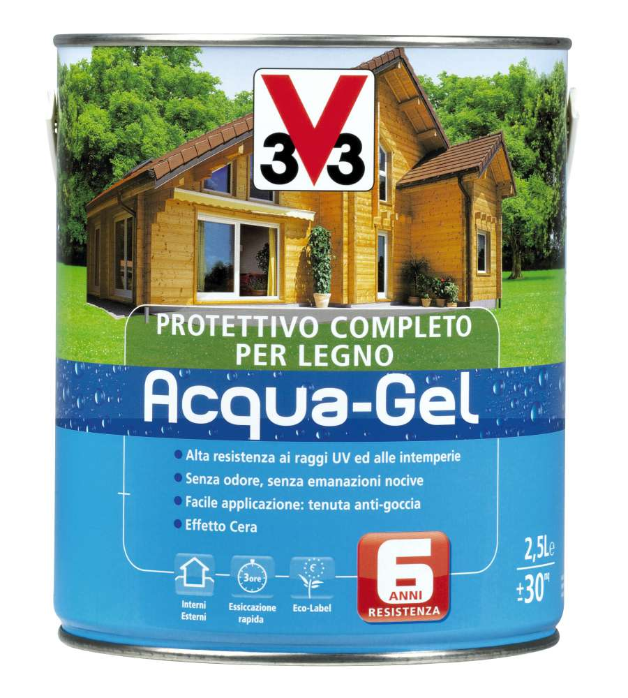 V33 protettivo per legno acqua castagno chiaro 2 5 litri for Arredo casa facile srl