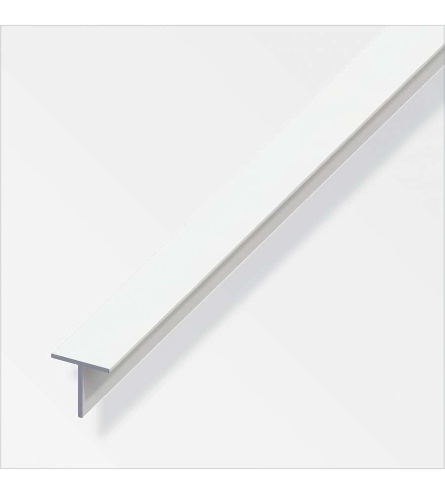 Profilo a t quadrato 11 5 pvc bianco 1 metro - Profili in plastica per piastrelle ...