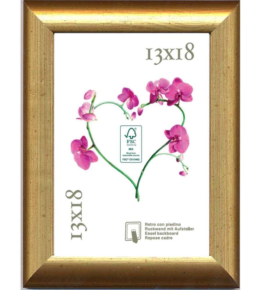 Cornice fsc mercurio oro v n 13x18 for Cornici 13x18