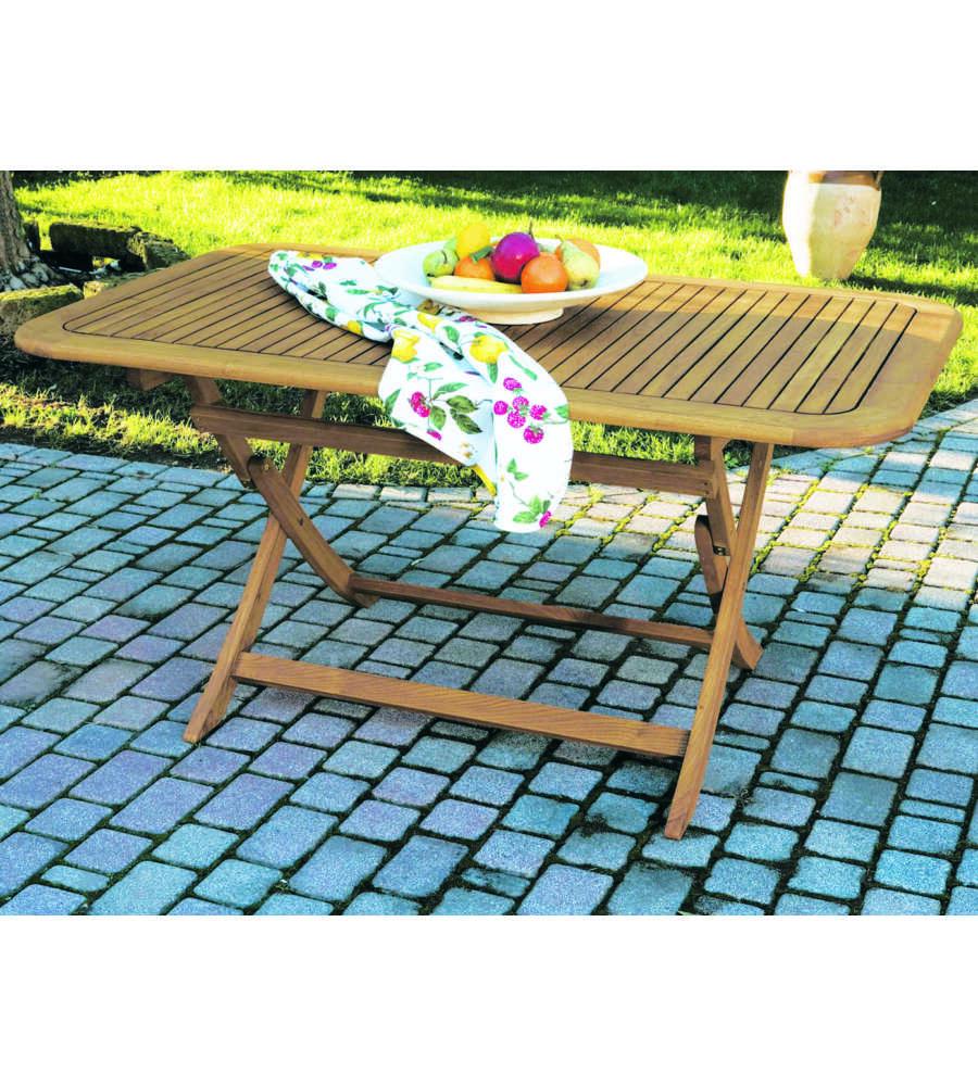 Tavolo da esterno graz rettangolare pieghevole - Tavolo esterno pieghevole ...