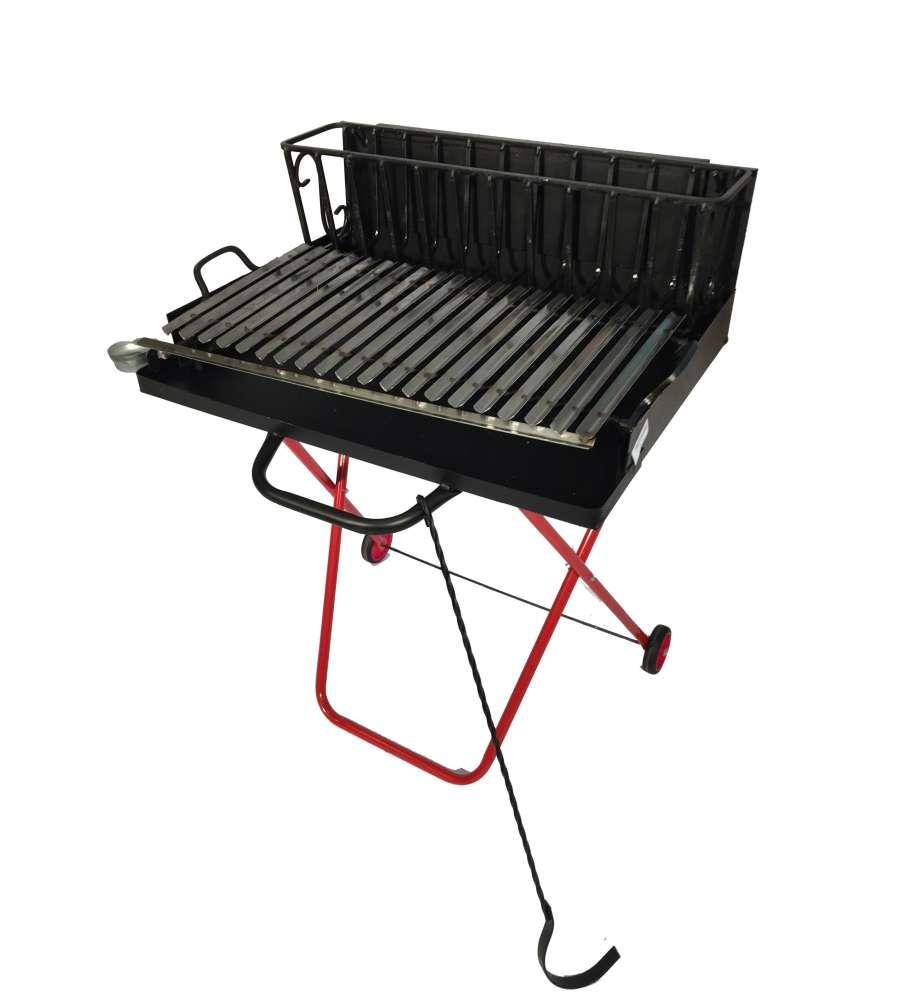 Barbecue a legna 70 cm trasportabile e chiudibile - Barbecue da giardino a legna ...