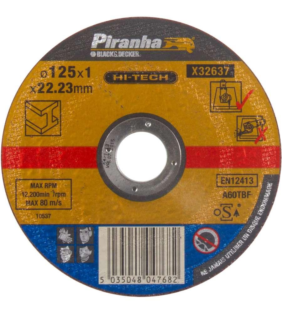 """Piranha - Disco Per Smerigliatrice Da Taglio Per Metallo 125mm """"x32637""""."""