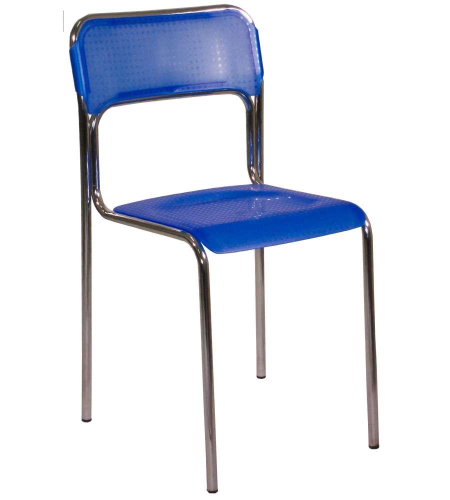 Sedie In Metallo E Plastica.Sedia Modello Ascona Blu