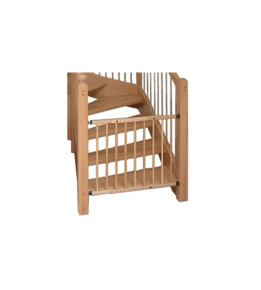 Cancelletto di sicurezza per scale in legno naturale for Cancello scale bambini