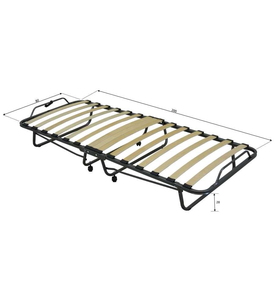 Brandina letto pieghevole con materasso trapuntato da 10 cm - Letto pieghevole con materasso ...