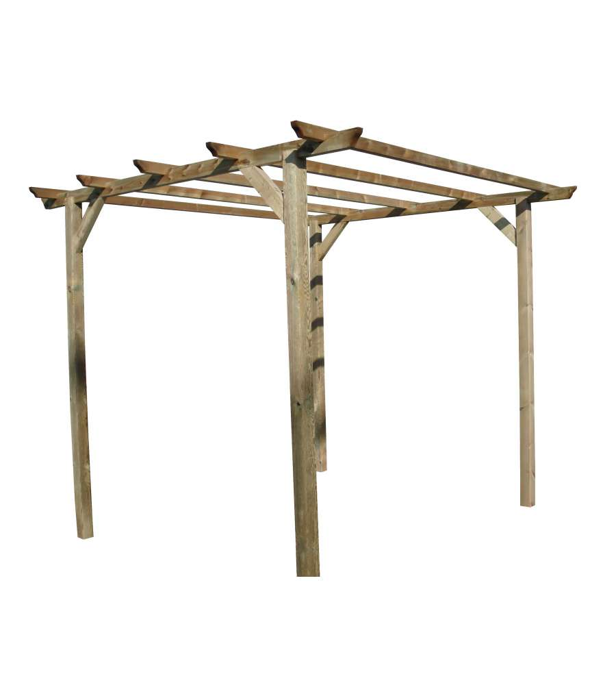 Pergola da giardino struttura libera 300x300 cm - Pergola da giardino ...