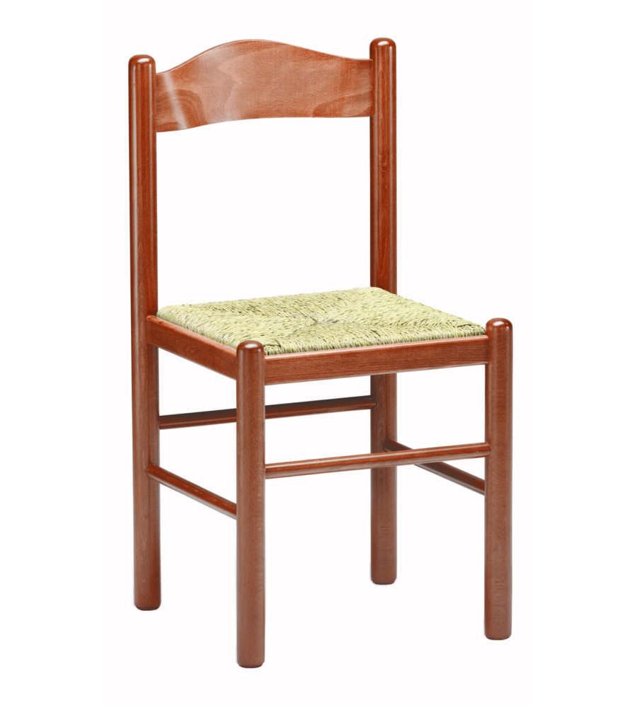 Sedie In Legno Ciliegio.Sedia In Legno Modello Liguria Colore Ciliegio Con Sedia In Paglia