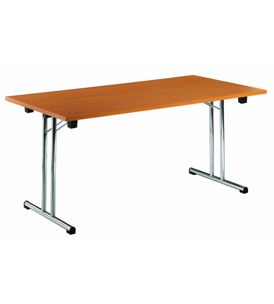 Offerta tavolo pieghevole fold con fusto cromato for Gambe pieghevoli per tavoli fai da te