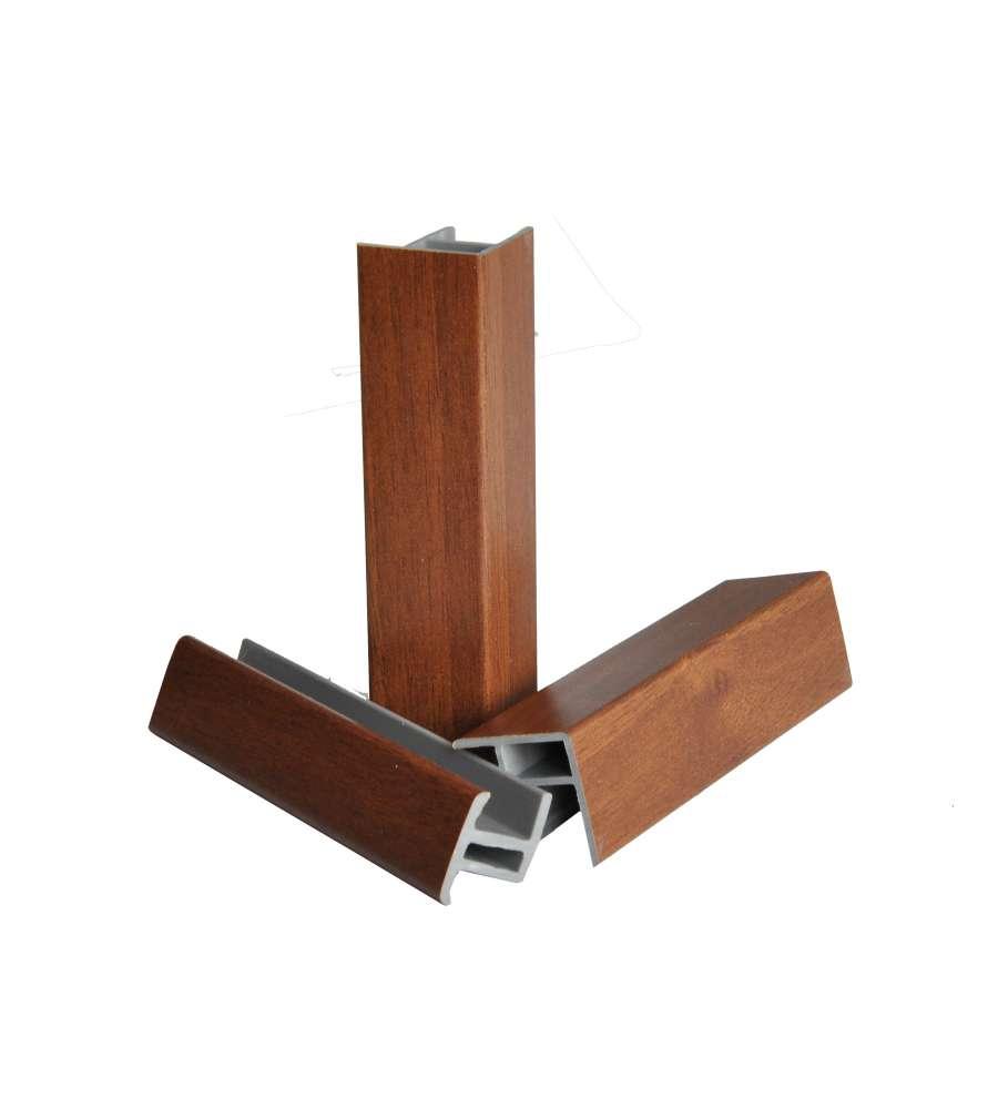 blister accessori per zoccolo da cucina da 14 cm color noce. - Zoccoli Cucina