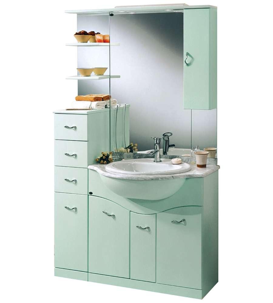 Composizione bagno daniela verde goffrato - Mobile bagno blu ...