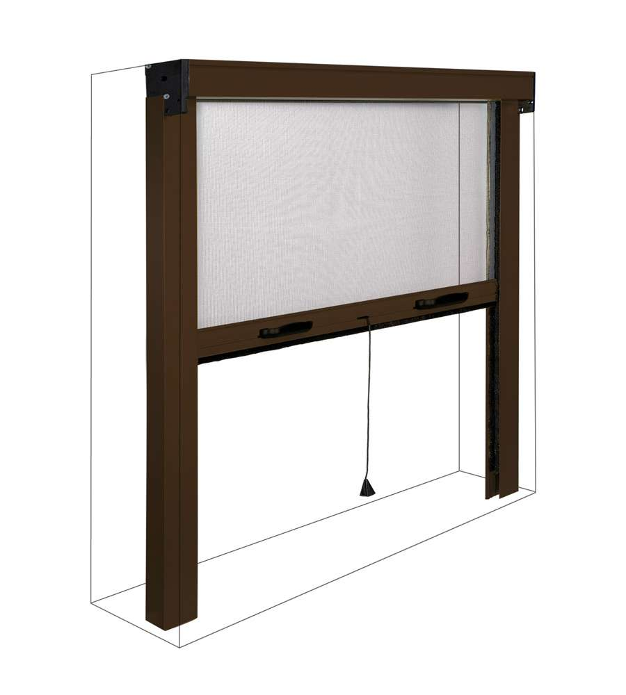 Zanzariera per finestre marrone sottile verticale 80 x - Zanzariere mobili per finestre ...