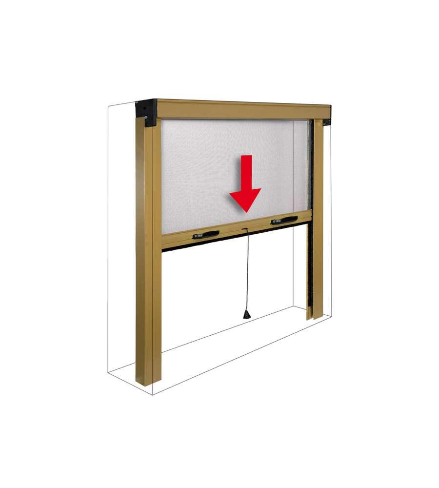Zanzariera per finestre bronzo sottile verticale 120 x - Amazon zanzariere per finestre ...