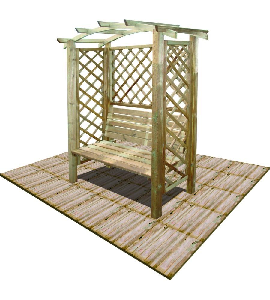 Pergola da giardino ad arco con panca da 120 cm for Eurobrico arco