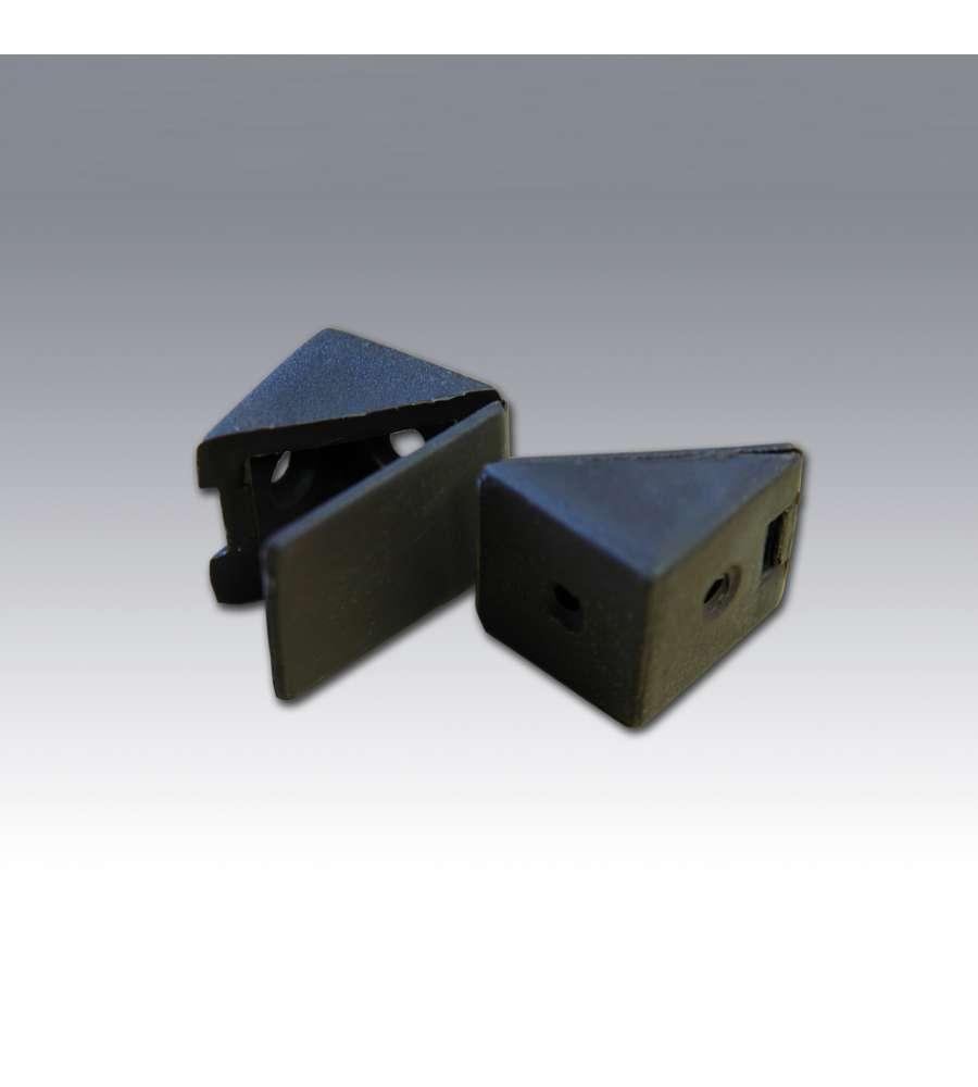 Angolare In Plastica Con Tappo 25mm Marrone