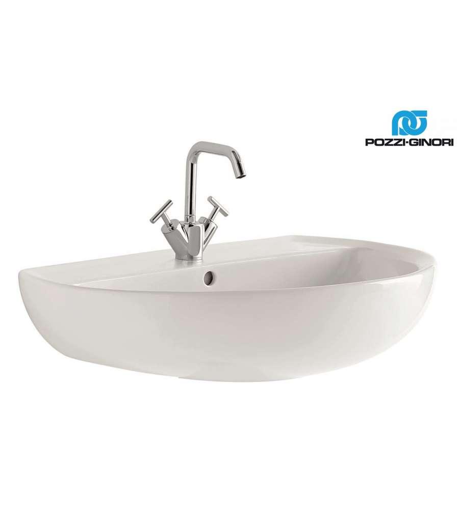 Lavabo in ceramica bianco serie colibri 2 pozzi ginori for Arredo bagno pozzi ginori