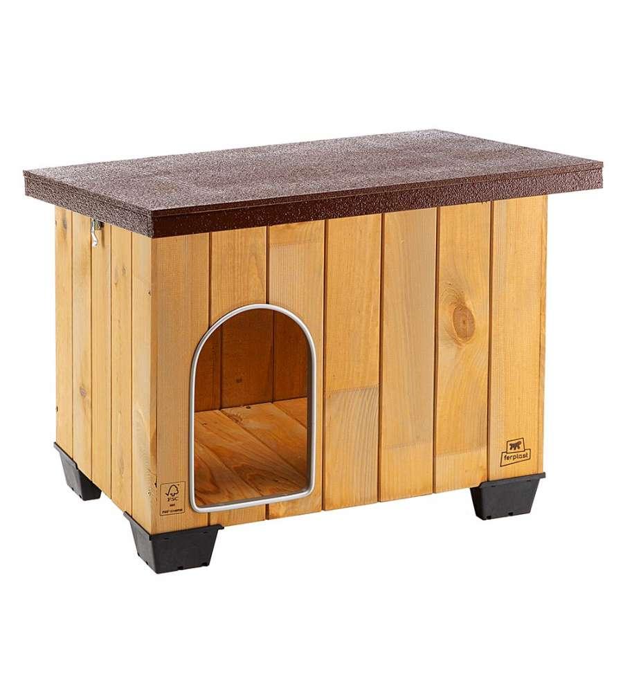 Cuccia in legno di pino nordico per cani dimensioni 73 for Cuccia per cani eurobrico