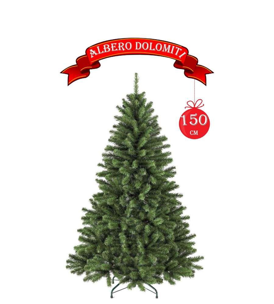 Albero Di Natale 150 Cm.Albero Di Natale Dolomiti 150cm Con 410 Rami Ad Aggancio