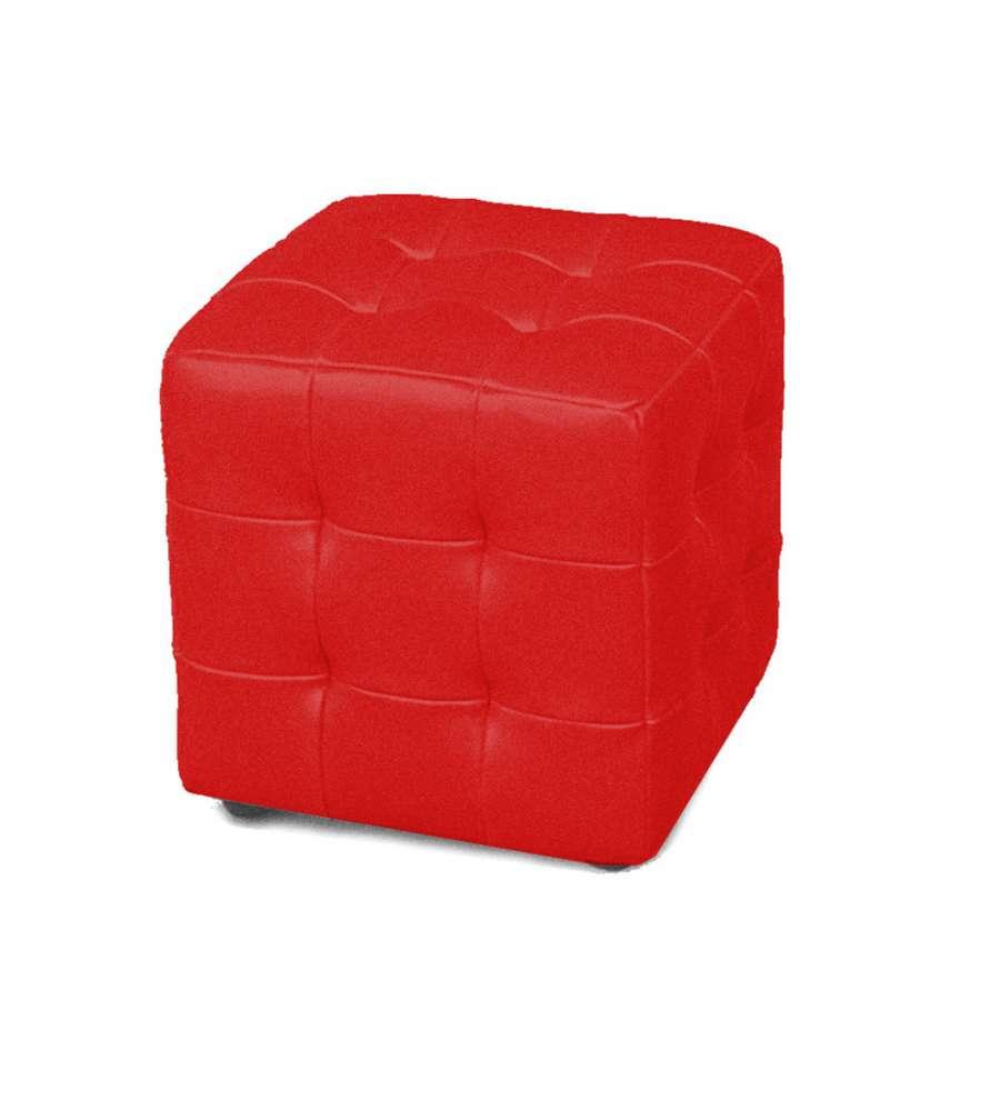 Pouf Cubo.Offerta Pouf Cubo Colore Rosso In Ecopelle