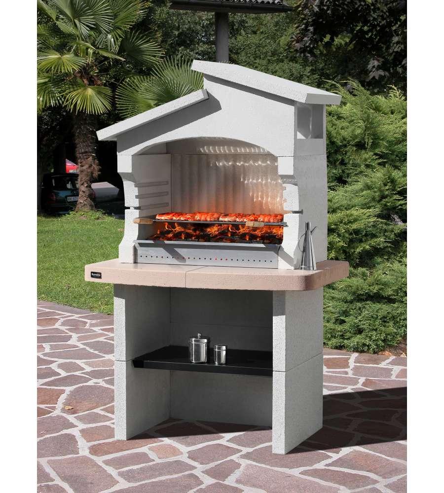 Barbecue sunday boavista in muratura per esterno 124x80x120h - Barbecue a legna da esterno ...