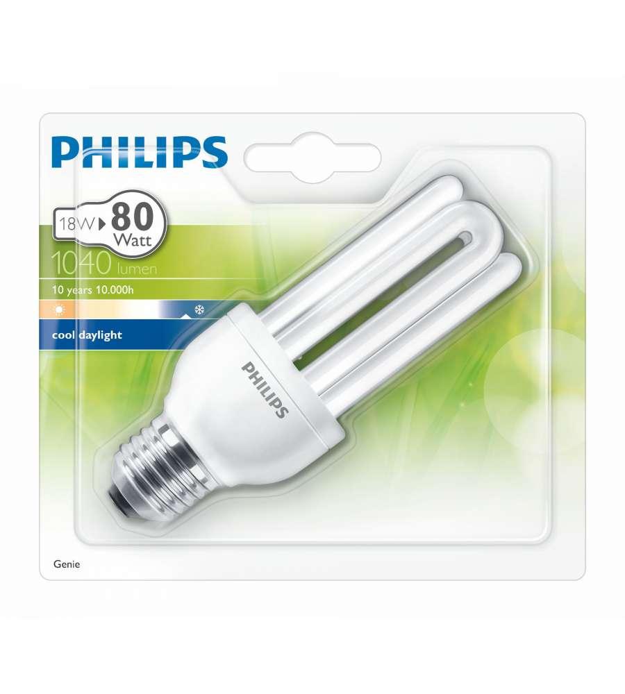 Philips lampadina genie luce fredda e27 18 w - Philips illuminazione casa ...