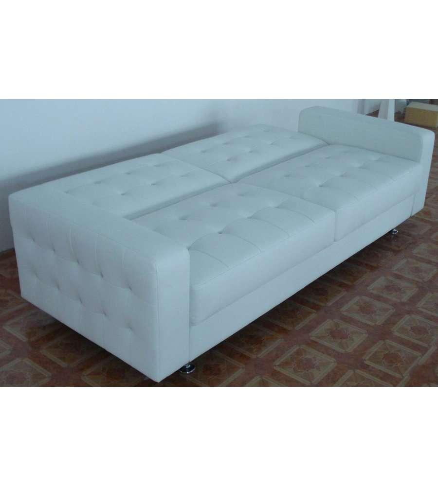 Divano bianco ecopelle il miglior design di ispirazione - Il miglior divano letto ...