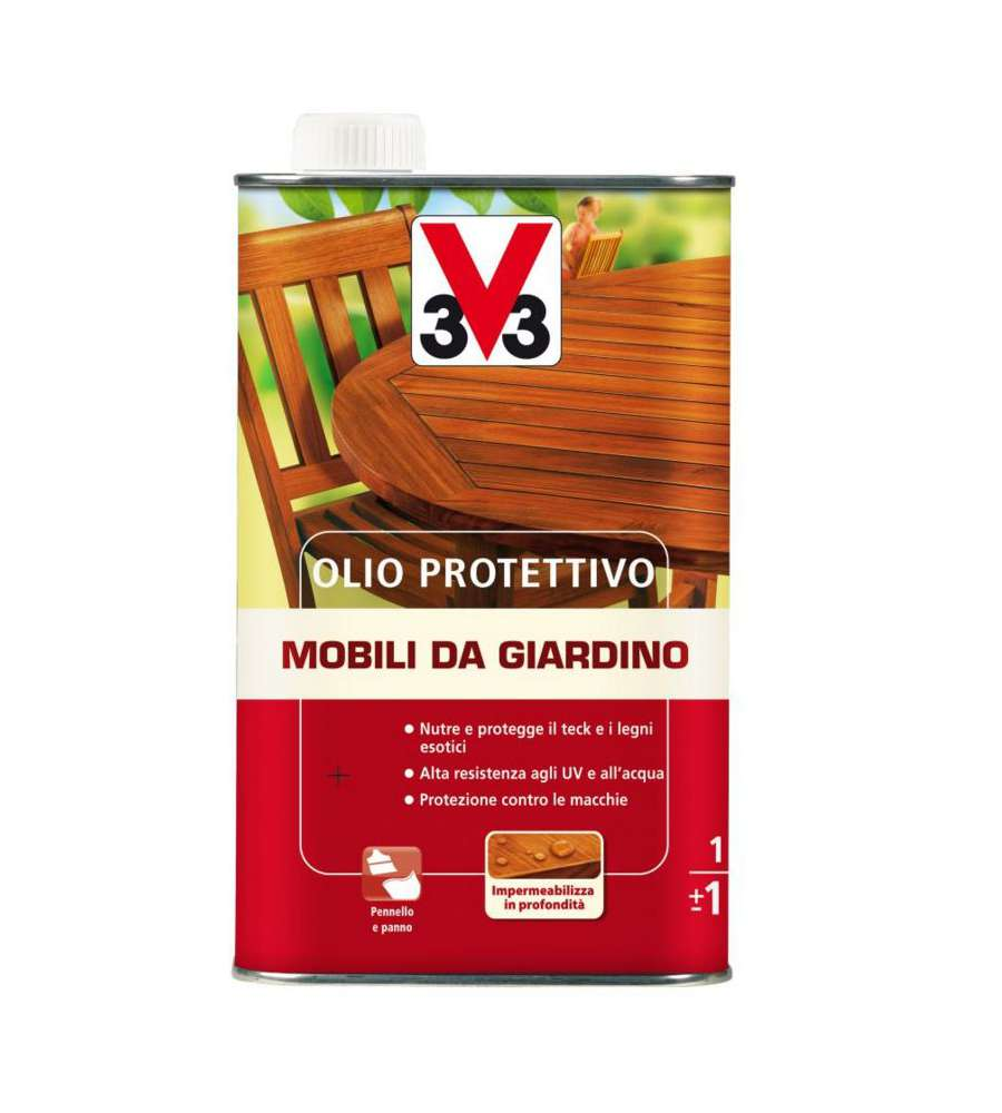 V33 olio teak per mobili da giardino 1 litro - Mobili da giardino on line ...