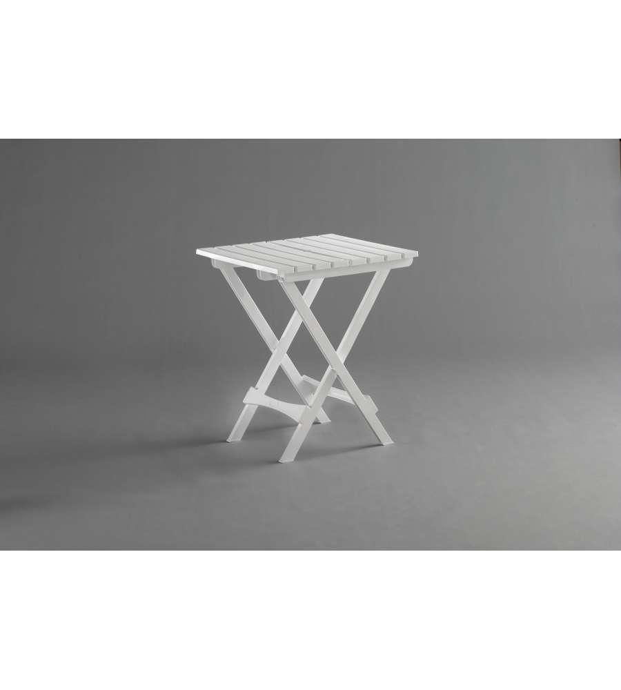 Eurobrico Tavoli Da Giardino.Tavolo Pieghevole Bianco Da Giardino Roxy 45x52x60 Cm