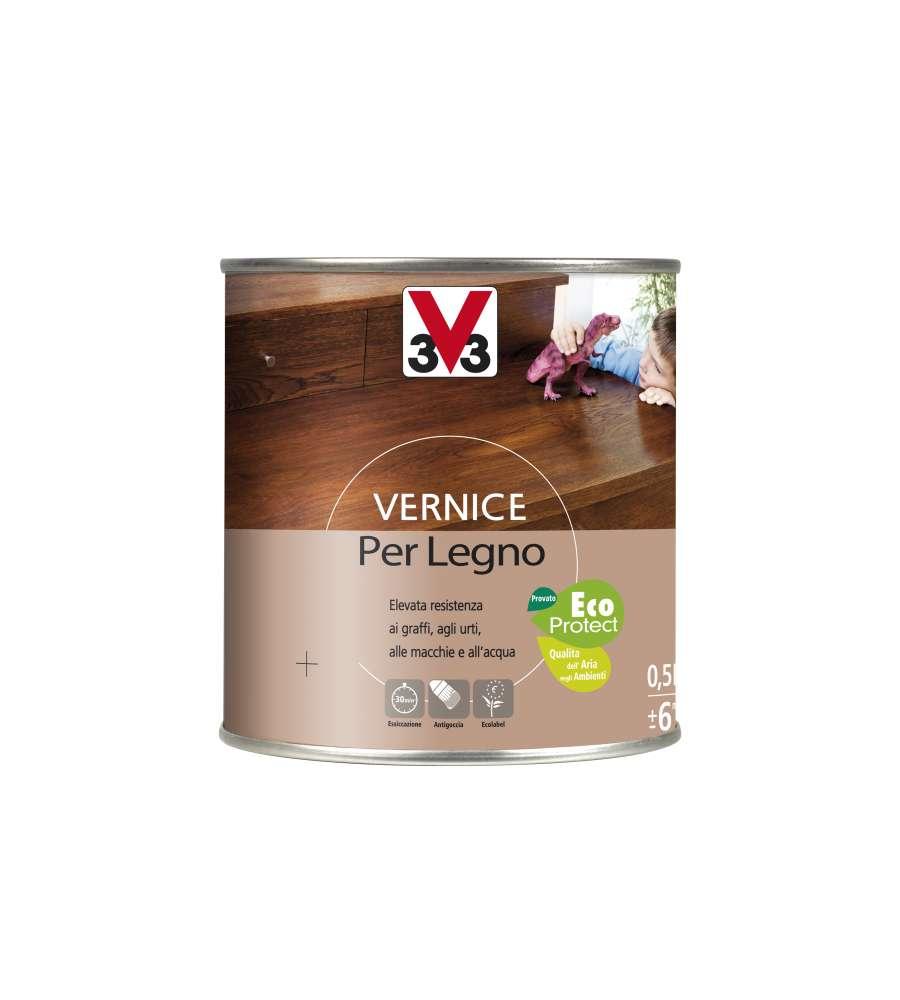 V33 Vernice Cera Per Legno Mogano 500 Ml