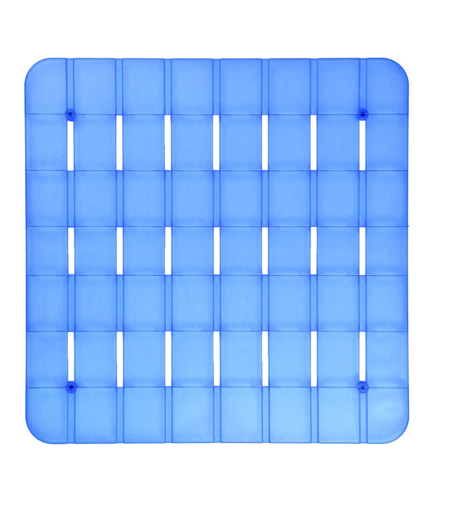 Pedana per piatto doccia in plastica azzurro con gommini for Piatto doccia antiscivolo
