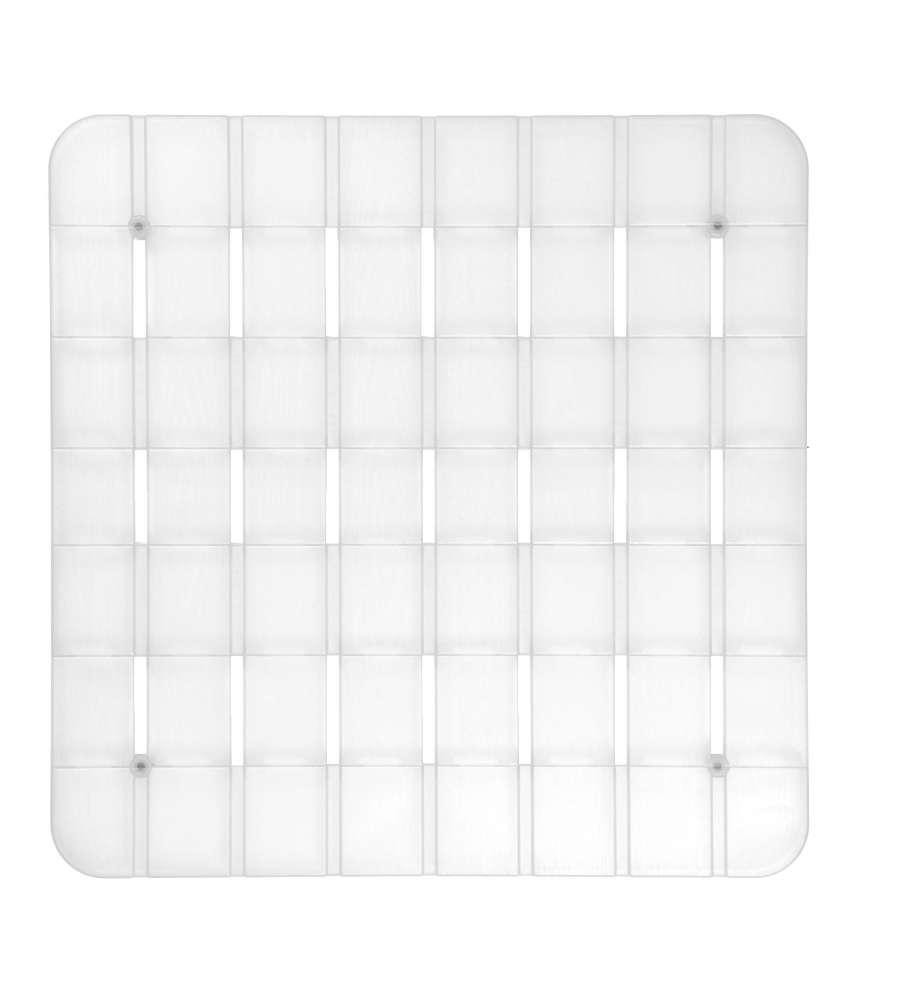 Pedana per piatto doccia in plastica semitrasparente con for Piatto doccia antiscivolo