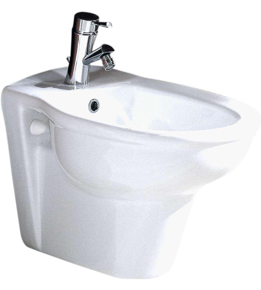 Bidet sospeso in ceramica bianco serie fiore - Bagno idraulica shop ...